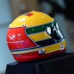 O capacete de Pagenaud à la Senna