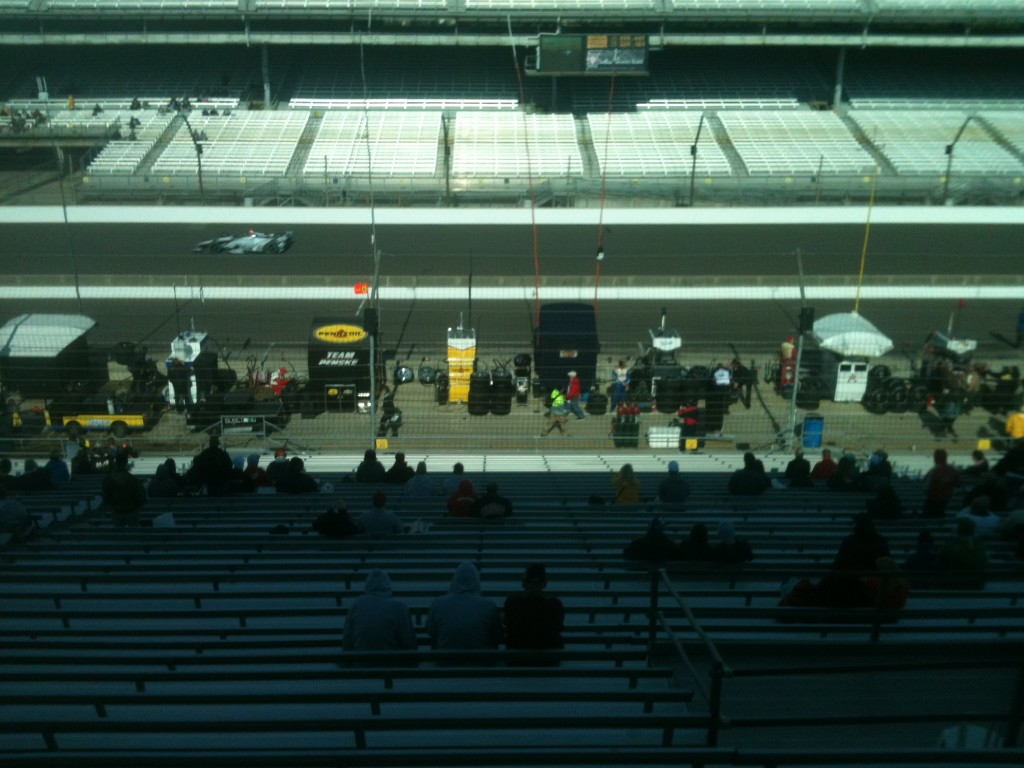 A pista de Indy hoje de manhã