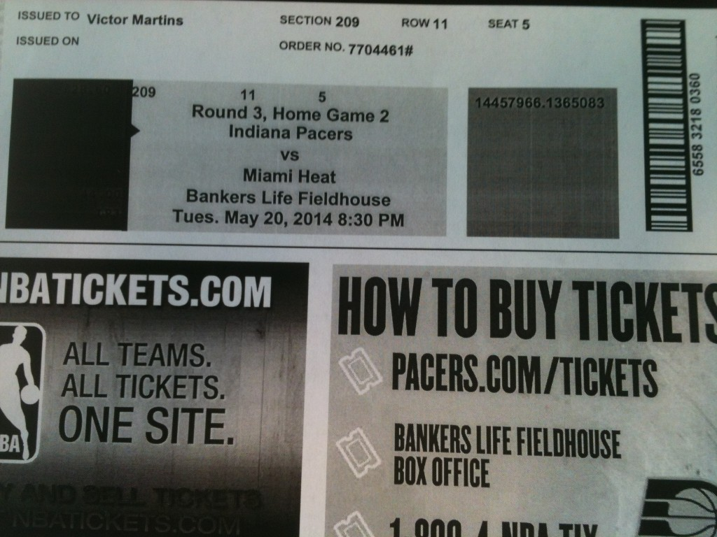 Ingresso Pacers vs Heat