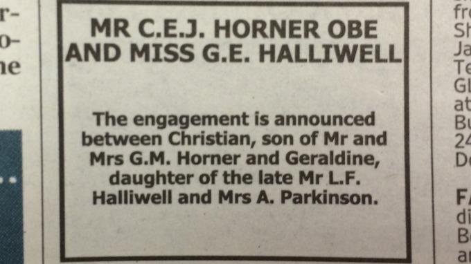 Anúncio Geri Halliwell