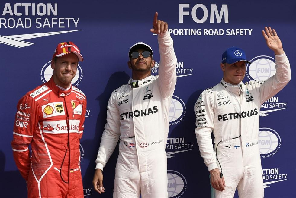 Vettel, Hamilton, Bottas